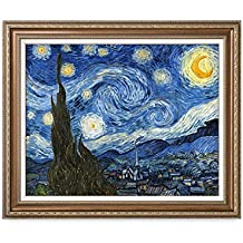 DECORARTS Starry Night, Vincent Van Gogh Classic Art. Giclee Prints Framed Art for Wall Decor. Framed size: 35x29