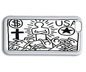Andre-case Cute Cartoon Keith Haring Collection case cover for iPhone 5C 2RMv03Qob3O 5.5 inch In Black and White