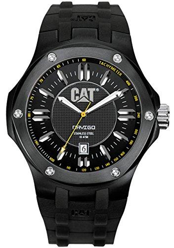 CAT Men's A116121121 Navigo Date Black Analog Dial with Black Rubber Strap Watch ()