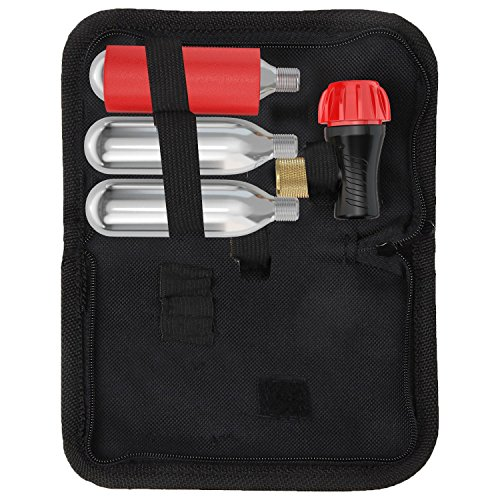 Co2 Inflator Kit With 3 Co2 Cartridges and Carrying Case, Quick & Easy, Bicycle Tire Pump for Road and Mountain Bikes, Fits Presta & Schrader Valves, Insulated Sleeve. by Bicykit (Image #2)