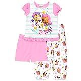 #6: Nickelodeon Bubble Guppies Girls 3 Piece Pajamas Set (Toddler)