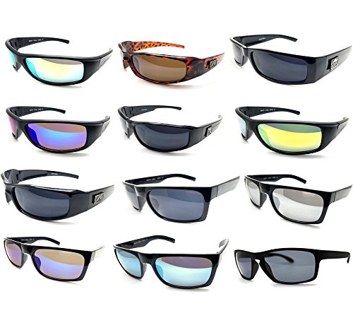 12 Pairs Men Fashion Designer Retro Vintage UV 100% WHOLESALE LOTS SUNGLASSES