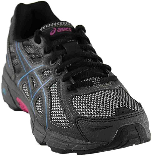 ASICS Women's Gel-Venture 6 Running-Shoes, Black/Island Blue/Pink, 9 B(M) US ()