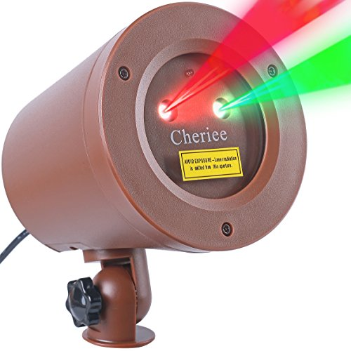 Laser Christmas Lights Outdoor Landscape Star String Projector IP65 Plastic Decoration Red & Green Laser Light in Bronze by Cheriee