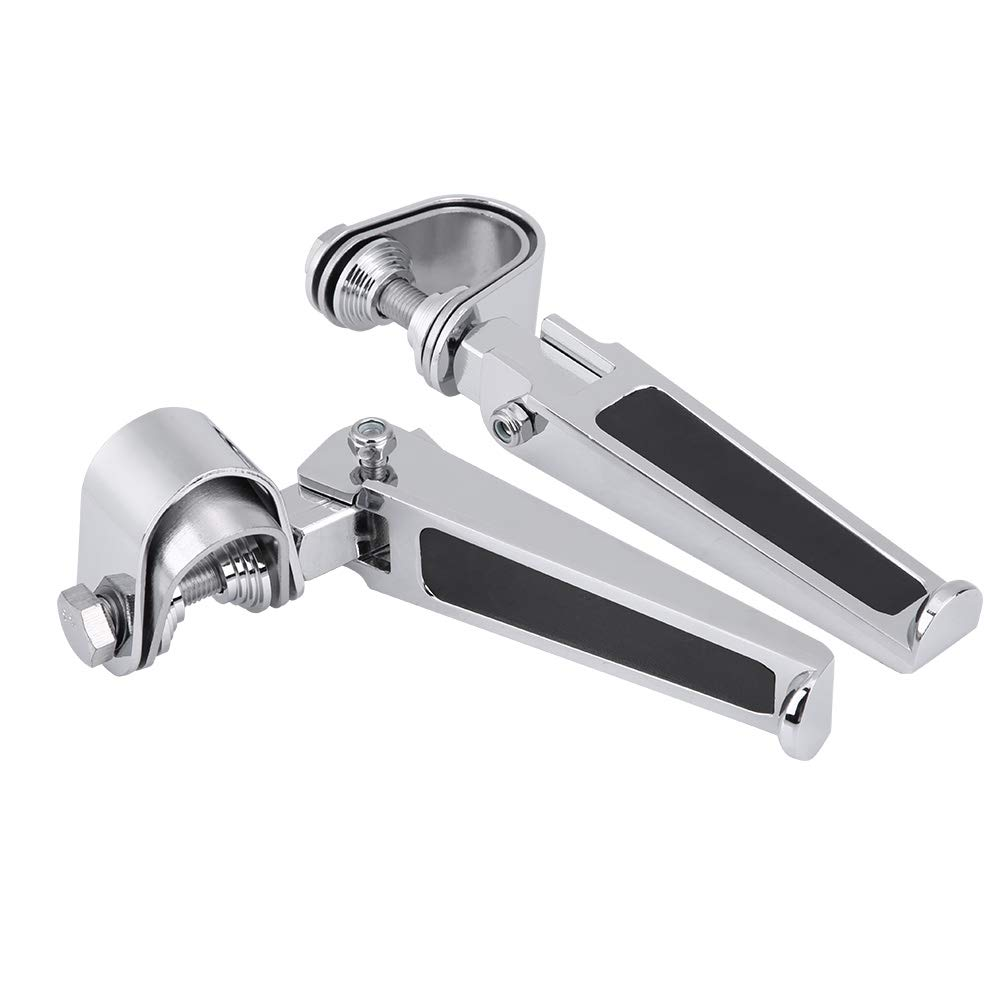 Yctze Motorcycle Foot Pegs with Engine Guard Clamps for Motorbike 1 to 1-1//4