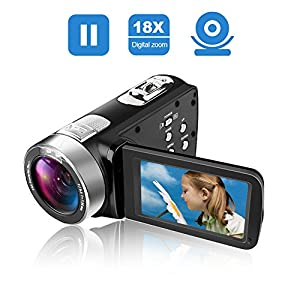Camcorder Video Camera Full HD 1080p Camcorders 24.0 MP Digital Camera Webcam Pause Function 16X Digital Zoom