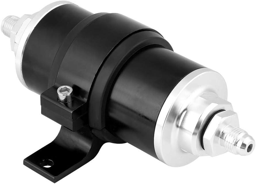Filtre /à essence Suuonee support AN6//AN8//AN10 filtre /à essence//essence en ligne billette universelle 30 microns noir Noir aluminium