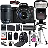 Canon EOS T6s Digital SLR Camera Bundle with Canon EF-S 18-135mm f/3.5-5.6 IS STM Lens + Professional Accessory Bundle (16 items)