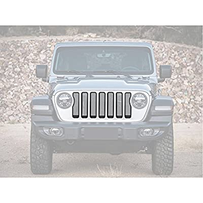 JeCar Front Grille Inserts &Headlight cover kit for 2018 Jeep Wrangler JL SPORT/SPORTS Accessories