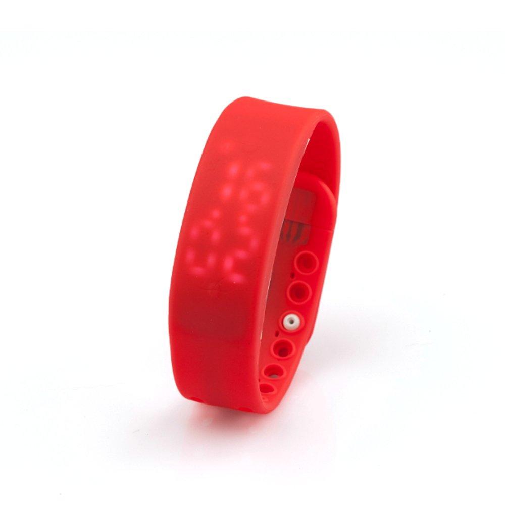 Mingus多機能3d LEDカロリー歩数計USBスポーツスマート手首リストバンドブレスレットサポート時計、時間、カロリー、歩数計、温度&スリープ監視機能  レッド B017IKD58S