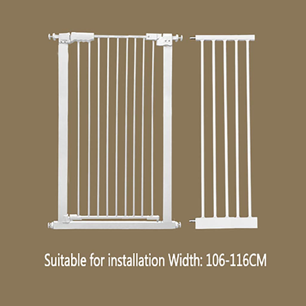 W106-116CM H 110CM W106-116CM H 110CM FPigSHS Pet gate Dog fence indoor Anti-dog isolation railing safety fence Cat and dog fence Isolation door Pet fence pet bed Detachable (color   W106-116CM, Size   H 110CM)