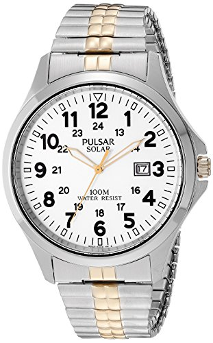 Pulsar Expansion Band (Pulsar Men's PX3071 Solar Expansion Analog Display Japanese Quartz Two Tone Watch)