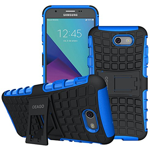 Galaxy J7 V Case, Galaxy J7 Prime Case, Galaxy J7 Perx Case, Galaxy J7 Sky Pro / Galaxy Halo Case, OEAGO Samsung Galaxy J7 2017 Case Tough Rugged Dual Layer Protective Case with Kickstand - Blue