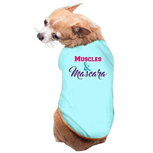 Dog Cat Pet Shirt Clothes Puppy Vest Soft Thin Muscles And Mascara 3 Sizes 4 Colors