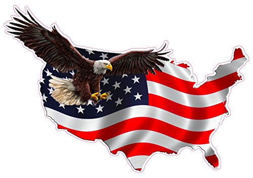Nostalgia Decals American Eagle United States Magnet Decal Version 1 is 6 in in Size.