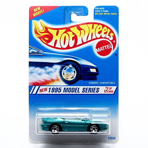 CAMARO CONVERTIBLE (Green) Collector #344 Hot Wheels HW 1995 MODEL SERIES (03/12) 1:64 Scale Die-Cast (344 Scales)