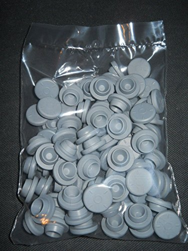 (CHENGYIDA 200- PACK Rubber Stoppers 20mm for Glass Vials (Grey))