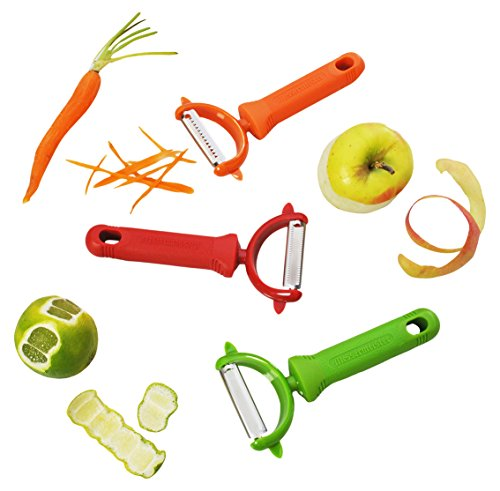 Messermeister 3-Piece Pro-Touch Y-Peeler Trio Set, Multicolor by Messermeister (Image #1)