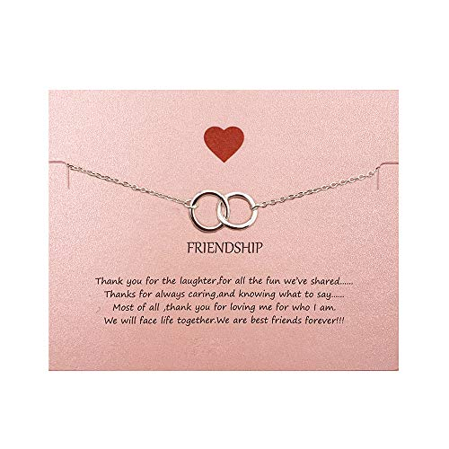 Your Always Charm Double Heart Infinity Knot of Friendship Bracelets (Silver 2 Circle)