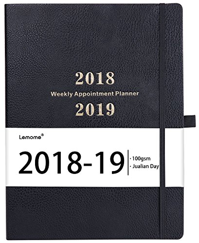 "URSUNSHINE 2018-2019 Planner – Appointment Weekly Planner with Julian Date & To-do List, to Achieve Your Goal, Thick Paper, Inner Pocket, 8.5"" x 11"", Black by URSUNSHINE"