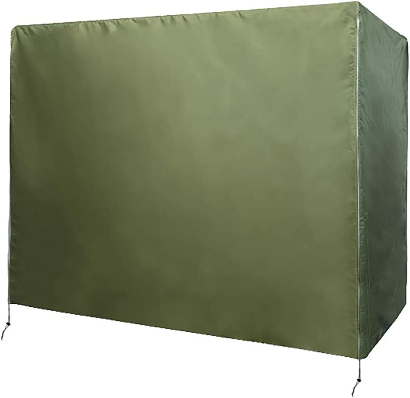 Patio Swing Chair Cover 3 Triple Seater,Outdoor Garden Hammock Glider Chair Cover, Windproof Furniture Protector,UV Resistant Swing Canopy Cover,All Weather Protection CYFC90 (Army Green)