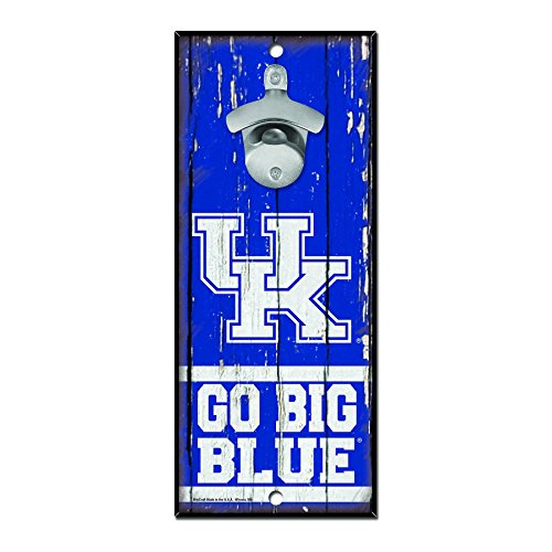 NCAA Kentucky Wildcats Wood Bottle Opener Sign, 5'' x 11'', Multicolor by WinCraft (Image #1)