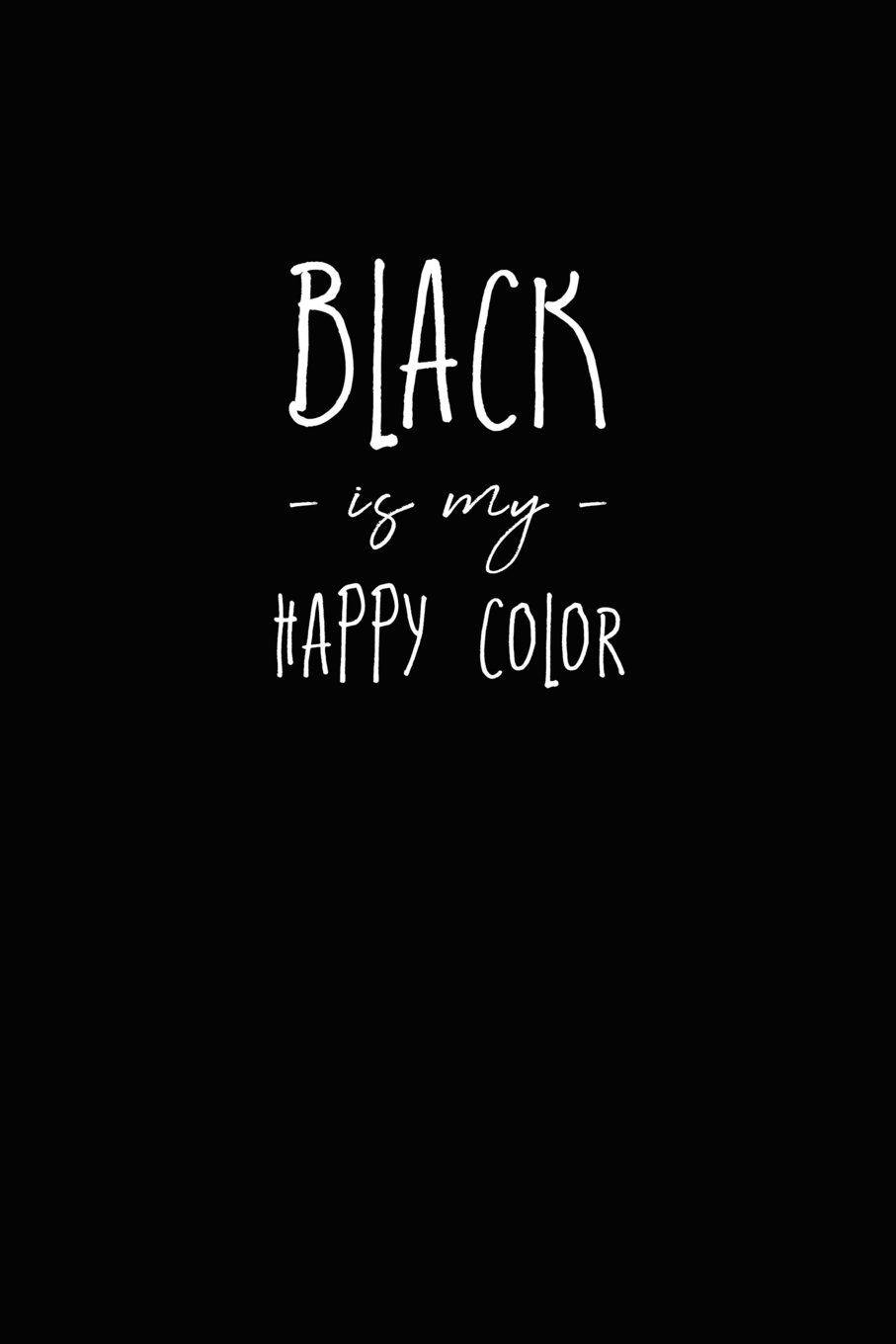 852e7eb0f13 Black is my Happy Color Black Journal With Black Paper: Songbird ...