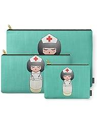 Society6 Kokeshi Nurse Carry-All Pouch