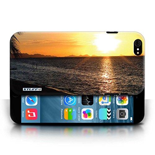 Etui pour Apple iPhone 6/6S / plage conception / Collection de Coucher du Soleil