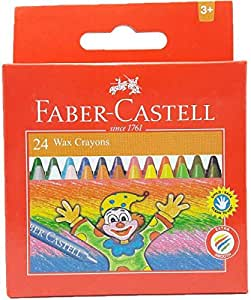 Faber castell Wax Crayons 24 Piece Pack