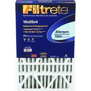 Filtrete 1550 Allergen Reduction Filter 16x25x4