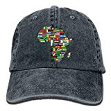 James. A 2018 Adult Fashion Cotton Denim Baseball Cap Africa Flags Classic Dad Hat Adjustable Plain Cap