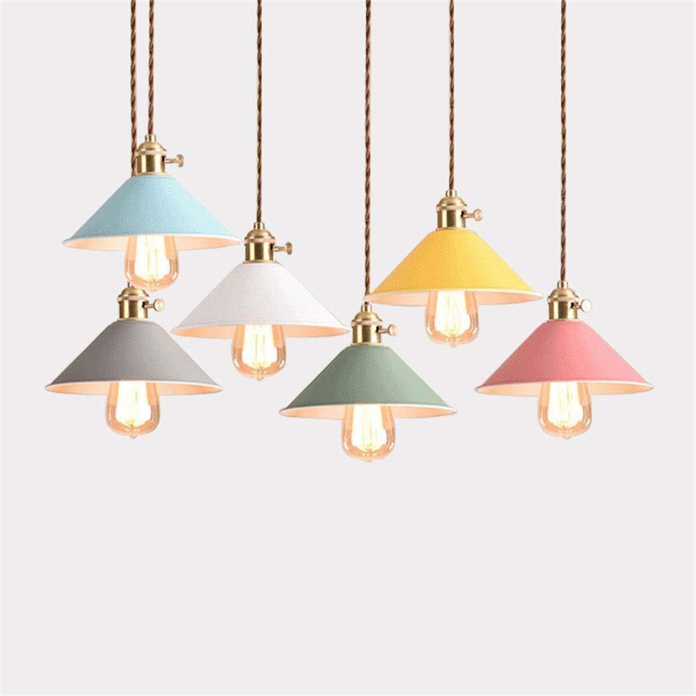 Modernes Design Schalter Pendelleuchten Esszimmer Lichter Pendelleuchte Lamparas Bunter Aluminiumlampenschirm Leuchte FüR Hauptbeleuchtung, Rosa