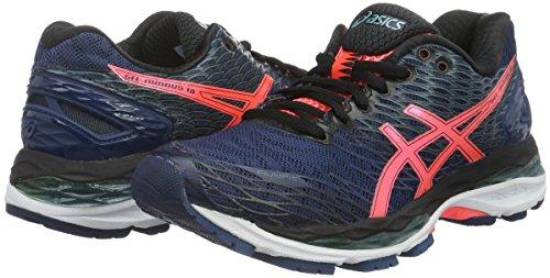 Nimbus De Chaussures flash poseidon 18 Bleu black Asics Femme Coral Running 1dtq1w4