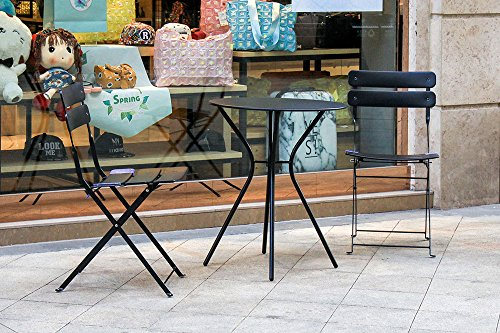 Living Express Outdoor 3 Piece Bistro Set Of Table And 2