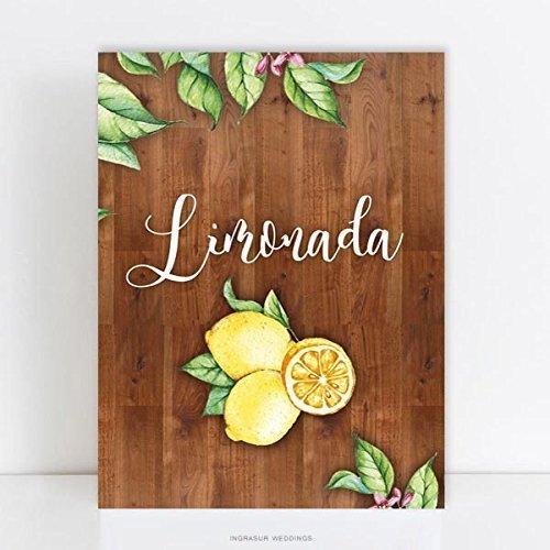 Cartel madera Limonada, 60x40cm. - Laminas sobre madera ...