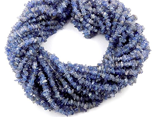 Tanzanite Chip - 1 Strand Natural Blue Tanzanite chips Beads line 32-34