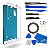 Front Glass forSamsung Galaxy Note 3 N9000 Series White Display Touchscreen incl 12 pcs Tool Kit / Pre-cut Sticker / Tweezers/ Roll of 2mm Adhesive Tape / Suction Cup / MetalWire / Microfiber cleaning cloth MMOBIEL