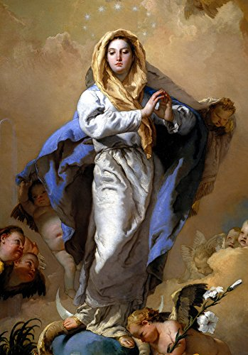 Immaculate Conception Madonna Our Lady POSTER A3 print Virgin Mary painting Religious wall art Catholic picture Blessed Mother