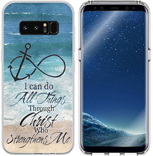 Galaxy S8 Case & MUQR Flexible Gel Silicone Slim Drop Proof Protection Compatible Cover for Samsung Galaxy S8 & Bible Verses Christian Theme Anchor