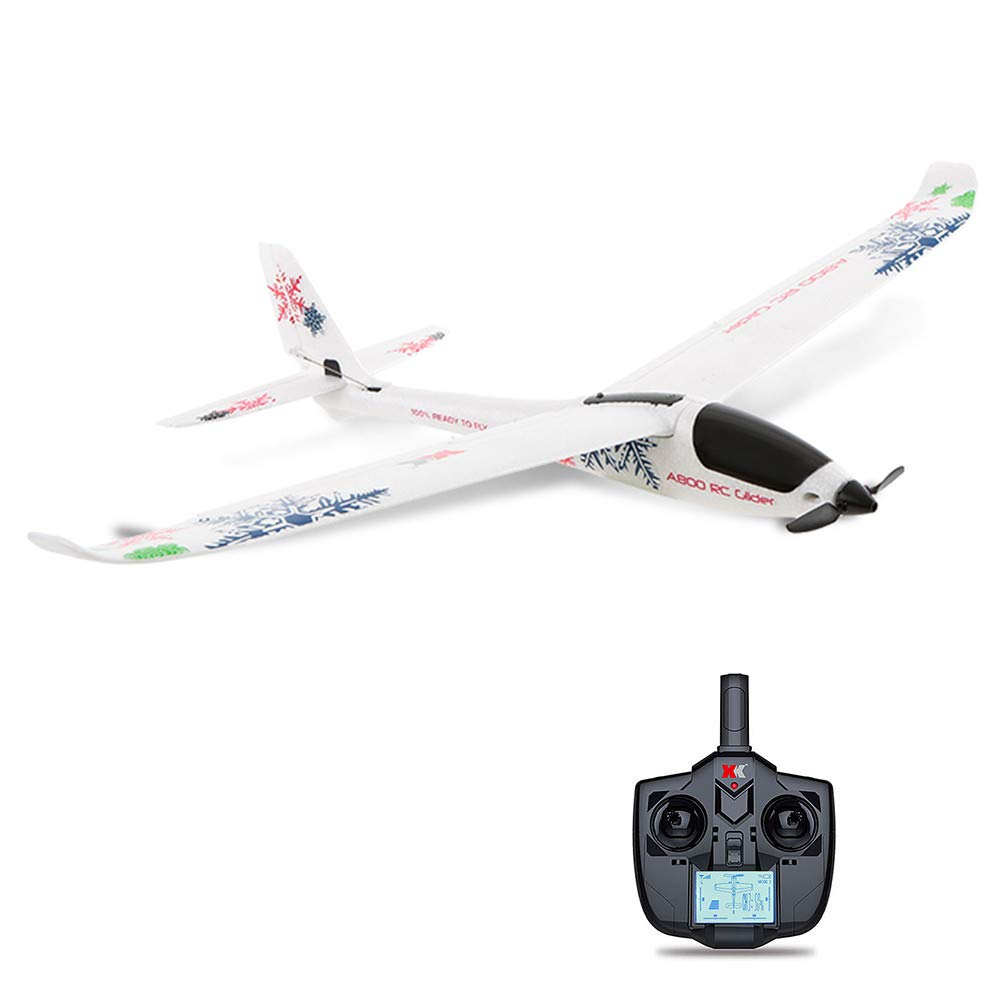 Bescita Fernbedienung RC Radio Flugzeug Drone Flugzeug, Original Wltoys A800 3D/6G 5CH 2.4G RC Flugzeug Brushless Motor Outdoor