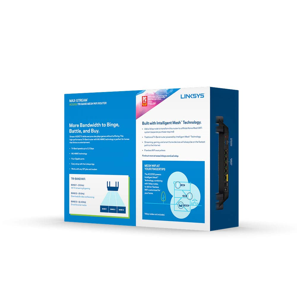 Fast Wireless WiFi Router, Gigabit Wireless Router Linksys Max ...