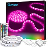 Govee RGB Led Strip Lights, 32.8 Feet, Color Changing Led Lights with Remote for Bedroom, Ceiling