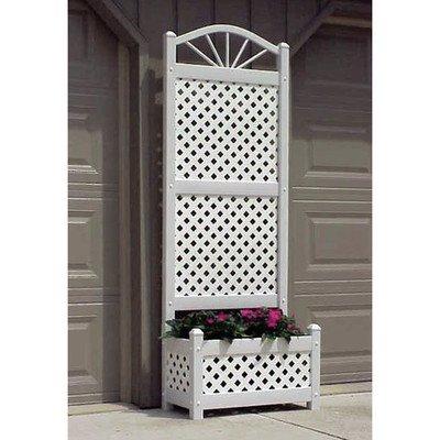 Sunburst Planter Trellis Color: White