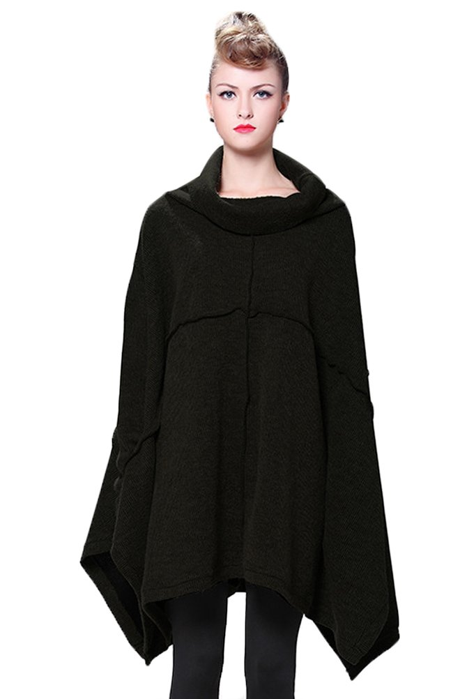 Mordenmiss Women's Oversized Sweater Spring Day Bat Shirt Style 1 Black