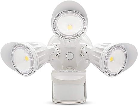 LED Security Lights Motion Sensor Light Outdoor 30W 4000lm 5000K IP65 White