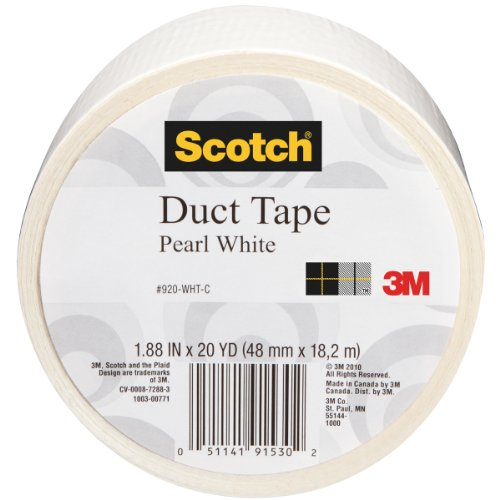 Scotch Duct Tape, Pearl White, 1.88-Inch by -