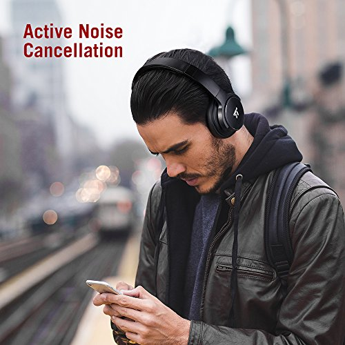 51 LNOkjZzL - TaoTronics Active Noise Cancelling Bluetooth Headphones HiFi Stereo Wireless Over Ear Deep Bass Headset w/cVc Noise Canceling Microphone 30 Hour Playtime Comfortable Earpads for Travel Work TV