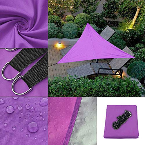 Bili-silly Sun Shade Sail Triangle UV Block Sunshade Canopy Waterproof for Patio Yard Deck Pergola Outdoor Garden (Purple,9.89.89.8ft)