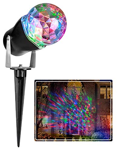 Gemmy Lightshow Multicolor Kaleidoscope Projection Red, Green and Blue Holiday Light for Halloween & Christmas (Bulk Packaging) -